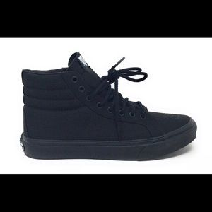 Vans  Adult SK8-Hi Slim Skate Shoes Black Black